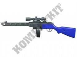 M696 PPSh41 SMG Replica Spring Rifle Airsoft BB Gun 2 Tone Blue and Black